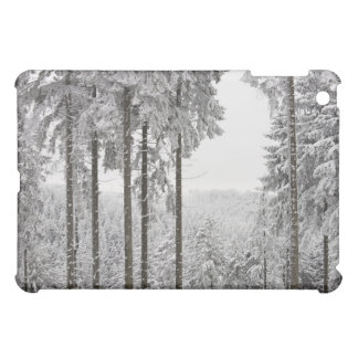 Evergreen forest in winter iPad mini covers