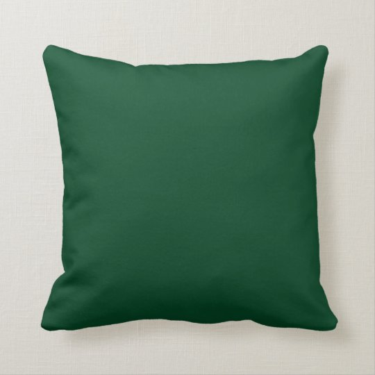 Evergreen Green Background on a Pillow