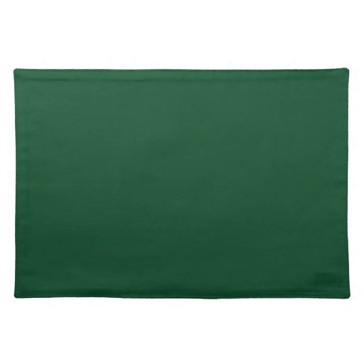 Evergreen Green Background on a Placemat
