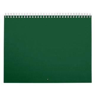 Evergreen Green Backgrounds on a Calendar