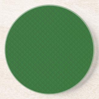 Evergreen Green Quilt Pattern Beverage Coasters