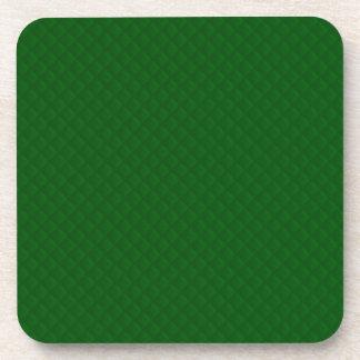 Evergreen Green Quilt Pattern Beverage Coaster
