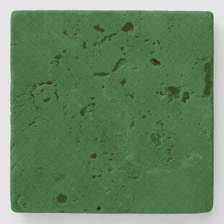 Evergreen Green Quilt Pattern Stone Beverage Coaster
