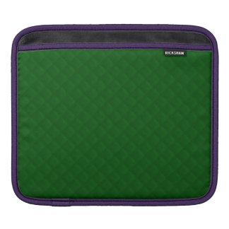 Evergreen Green Quilt Pattern iPad Sleeve