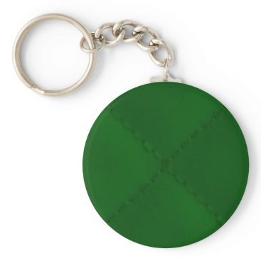 Aztec Themed Evergreen Green Quilt Pattern Keychain