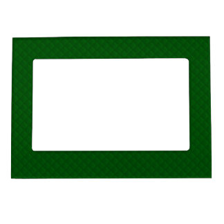 Evergreen Green Quilt Pattern Magnetic Photo Frames