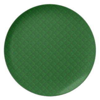 Evergreen Green Quilt Pattern Party Plates