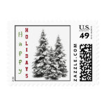 Evergreen Holiday Postage Stamp