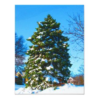 Evergreen in Winter Card