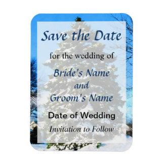 Evergreen in Winter Save the Date Magnet