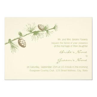 """Evergreen Invitation 5"""" X 7"""" Invitation Card"""