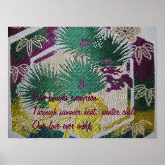 """Evergreen Love"" Haiku Poster"