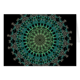 Evergreen Mandala Pattern Card