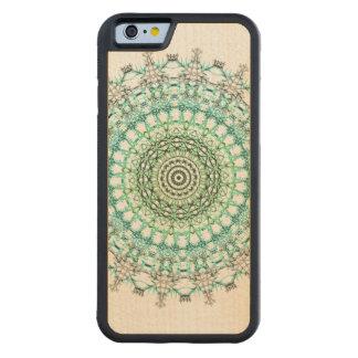 Evergreen Mandala Pattern Carved® Maple iPhone 6 Bumper Case