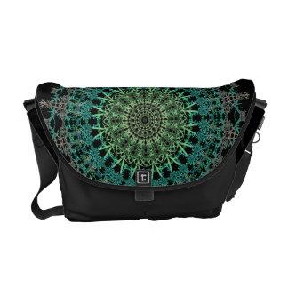 Evergreen Mandala Pattern Courier Bag