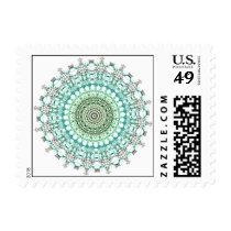 Evergreen Mandala Pattern Postage