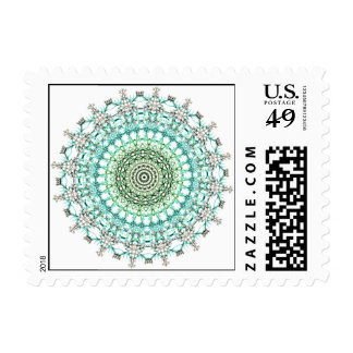 Evergreen Mandala Pattern Postage