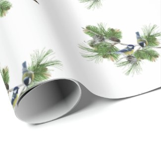 Evergreen Nest Christmas Wrapping Paper