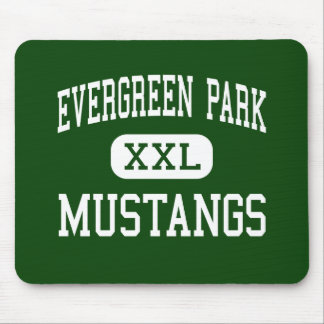 Evergreen Park - Mustangs - Evergreen Park Mouse Pad