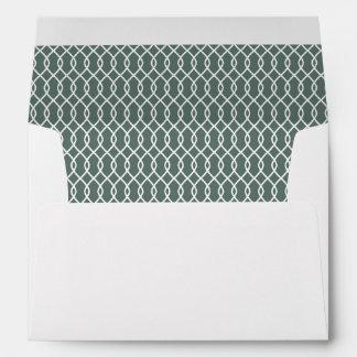 Evergreen Patterned Envelope with Custom Address