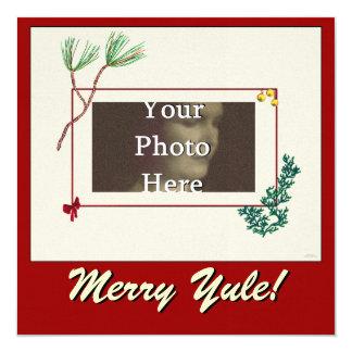 Evergreen Pine and Cedar Photo Frame Card