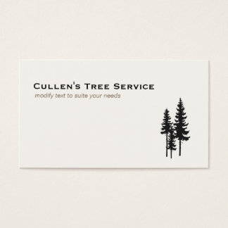 Evergreen Pine Trees Nature and Landscaping Design Business Card