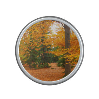 Evergreen Pines and Autumn Trees Bluetooth Speaker