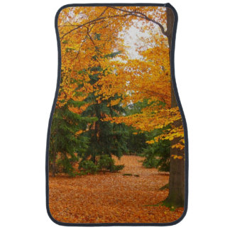 Evergreen Pines and Autumn Trees Car Floor Mat