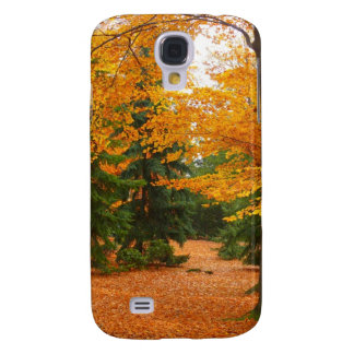Evergreen Pines and Autumn Trees Galaxy S4 Case