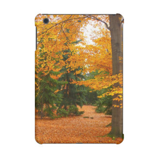 Evergreen Pines and Autumn Trees iPad Mini Retina Cover