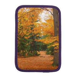Evergreen Pines and Autumn Trees iPad Mini Sleeves