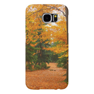Evergreen Pines and Autumn Trees Samsung Galaxy S6 Case