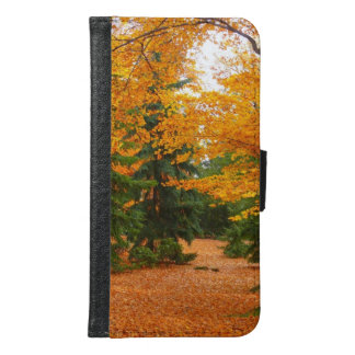 Evergreen Pines and Autumn Trees Samsung Galaxy S6 Wallet Case