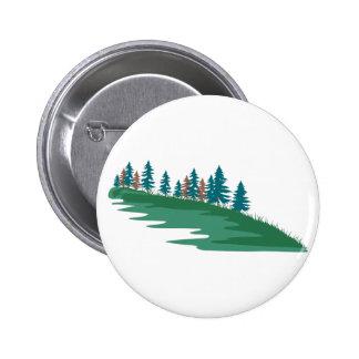 Evergreen Scene Pinback Button