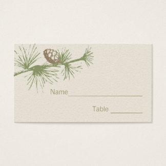 Evergreen Seating Card