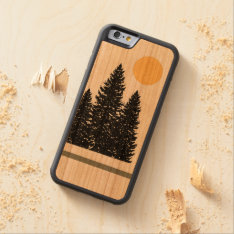 Evergreen Silhouette iPhone 6 Wood Case at Zazzle