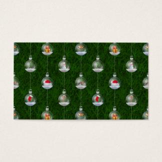 Evergreen Snowglobes Business Card