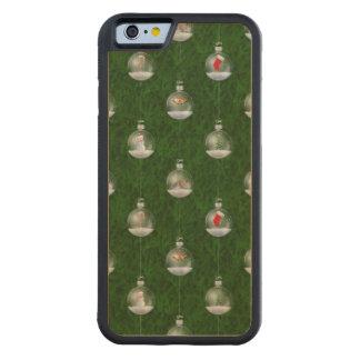 Evergreen Snowglobes Carved® Maple iPhone 6 Bumper