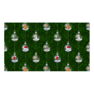 Evergreen Snowglobes Double-Sided Standard Business Cards (Pack Of 100)