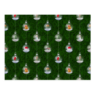 Evergreen Snowglobes Postcard