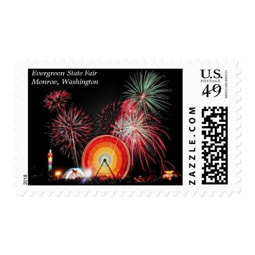 Evergreen State Fair, Monroe, Washington Postage Stamp