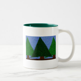 Evergreen State of Mind Two-Tone Coffee Mug