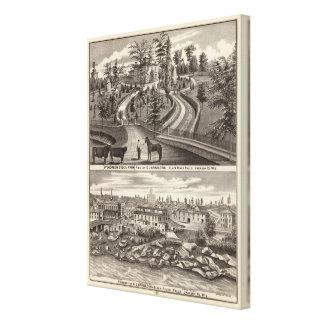 Evergreen Stock Farm, res Canvas Print