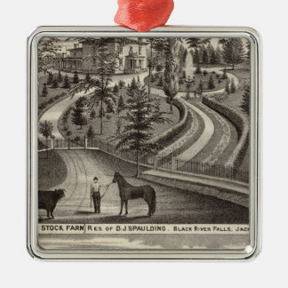 Evergreen Stock Farm, res Christmas Tree Ornament