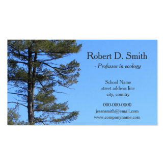 evergreen tree in blue sky science profile cards Double-Sided standard business cards (Pack of 100)