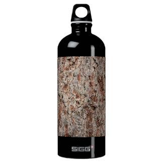 Evergreen tree trunk aluminum water bottle