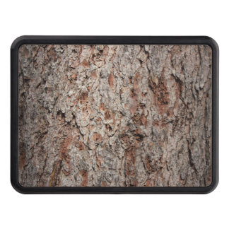 Evergreen tree trunk trailer hitch covers