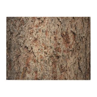 Evergreen tree trunk wood print