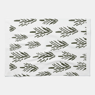 Evergreen trees hand towel