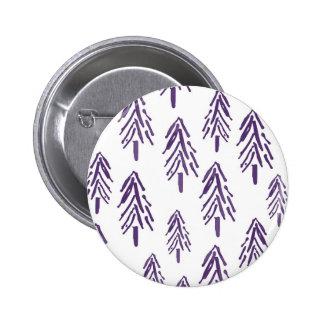 Evergreen Trees in Purple Button